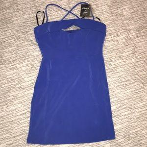 BLUE REVOLVE MINI DRESS NWT